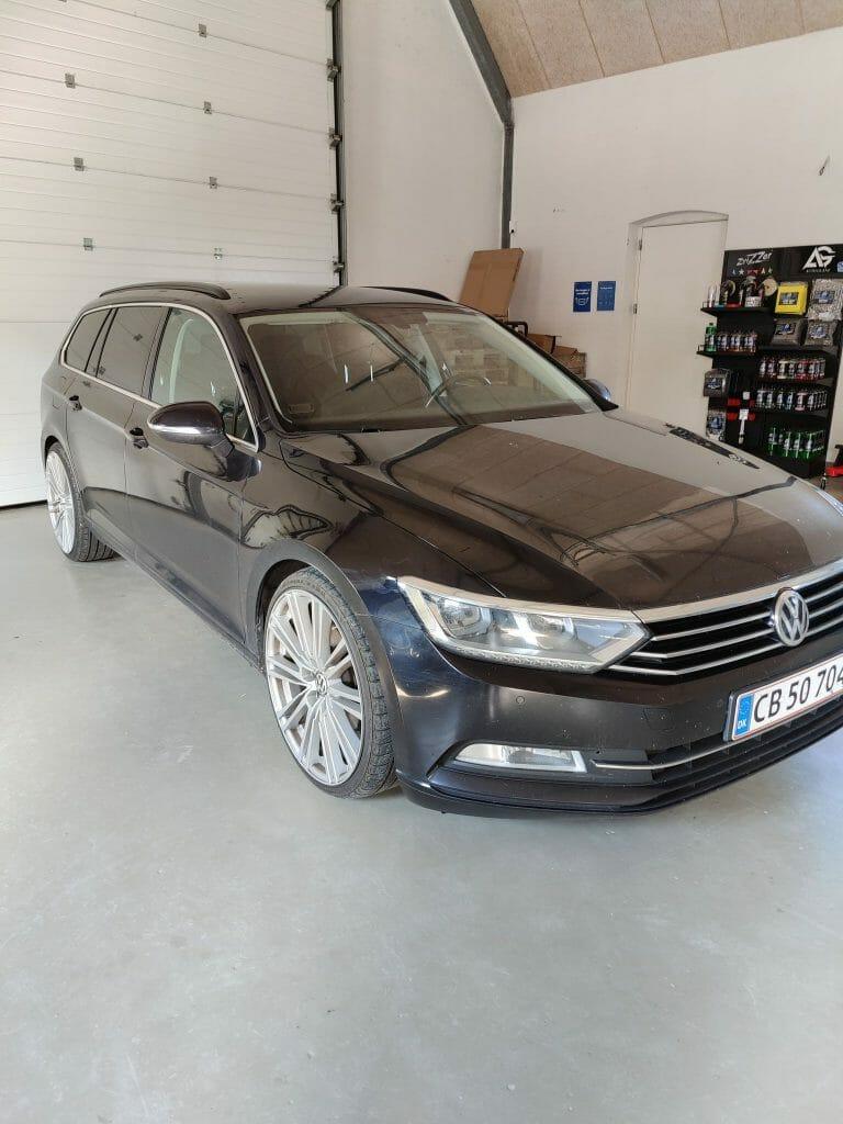 Volkswagen Passat inden vask og polering